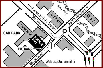 Godalming Borough Hall Map